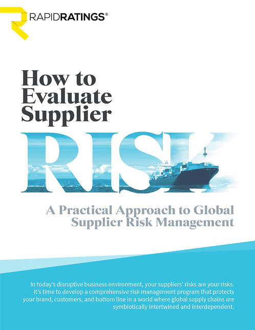 How to Evaluate Supplier Risk_cover page